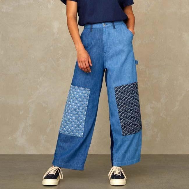 Leila Worker Jeans Colour Block