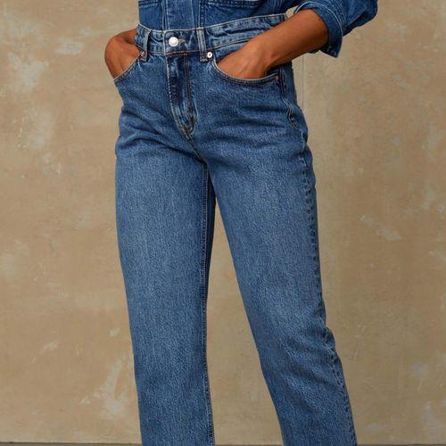 Kings of Indigo Caroline High Waisted Jeans Eco Xavier Blue Marble