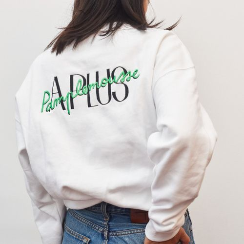 A Plus Sweater White