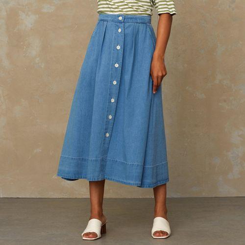 Benten Skirt Light Indigo