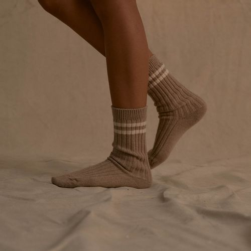 Recycled Cashmere Stripe Socks