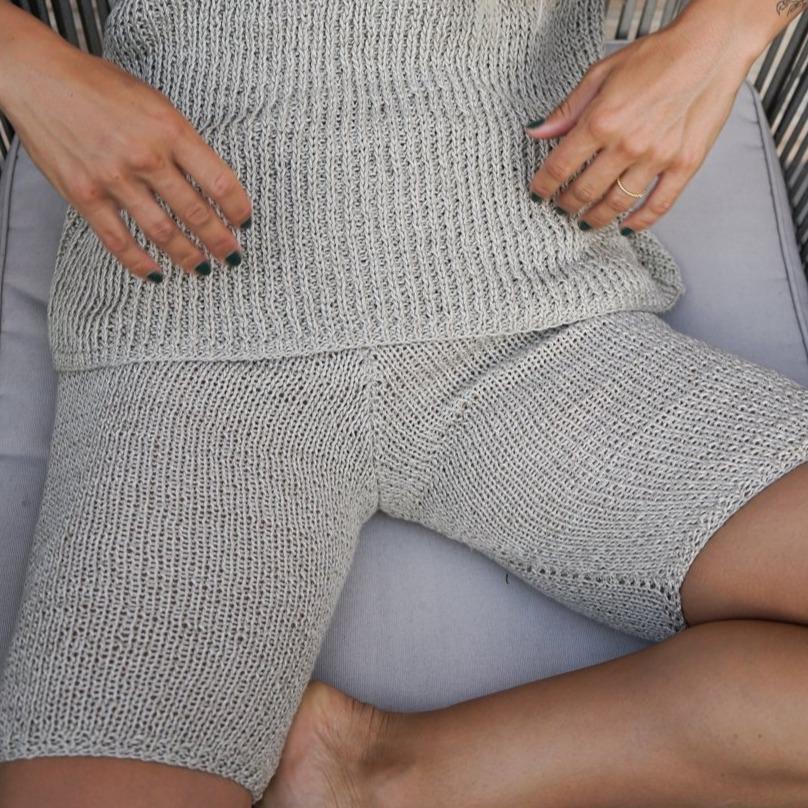 Saulè Linen Biker Shorts