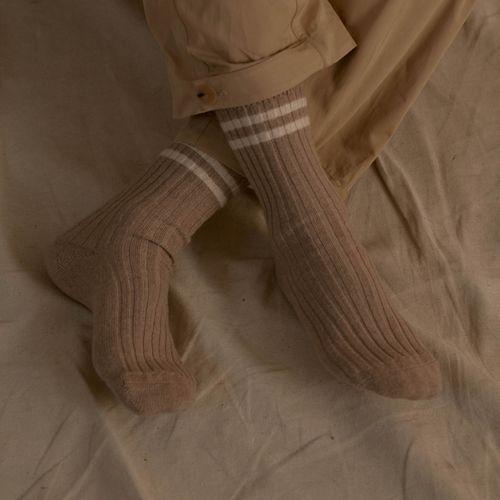 Riley Studio Recycled Cashmere Stripe Socks