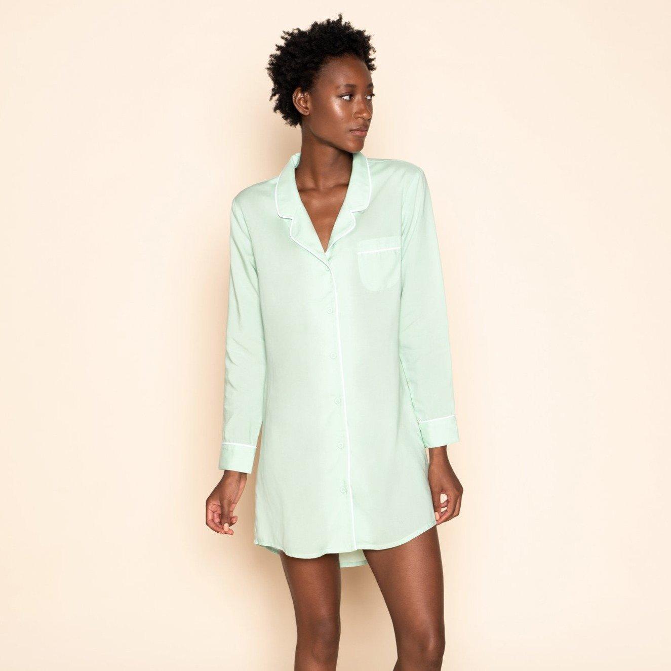 Dress Blouse Mint Green