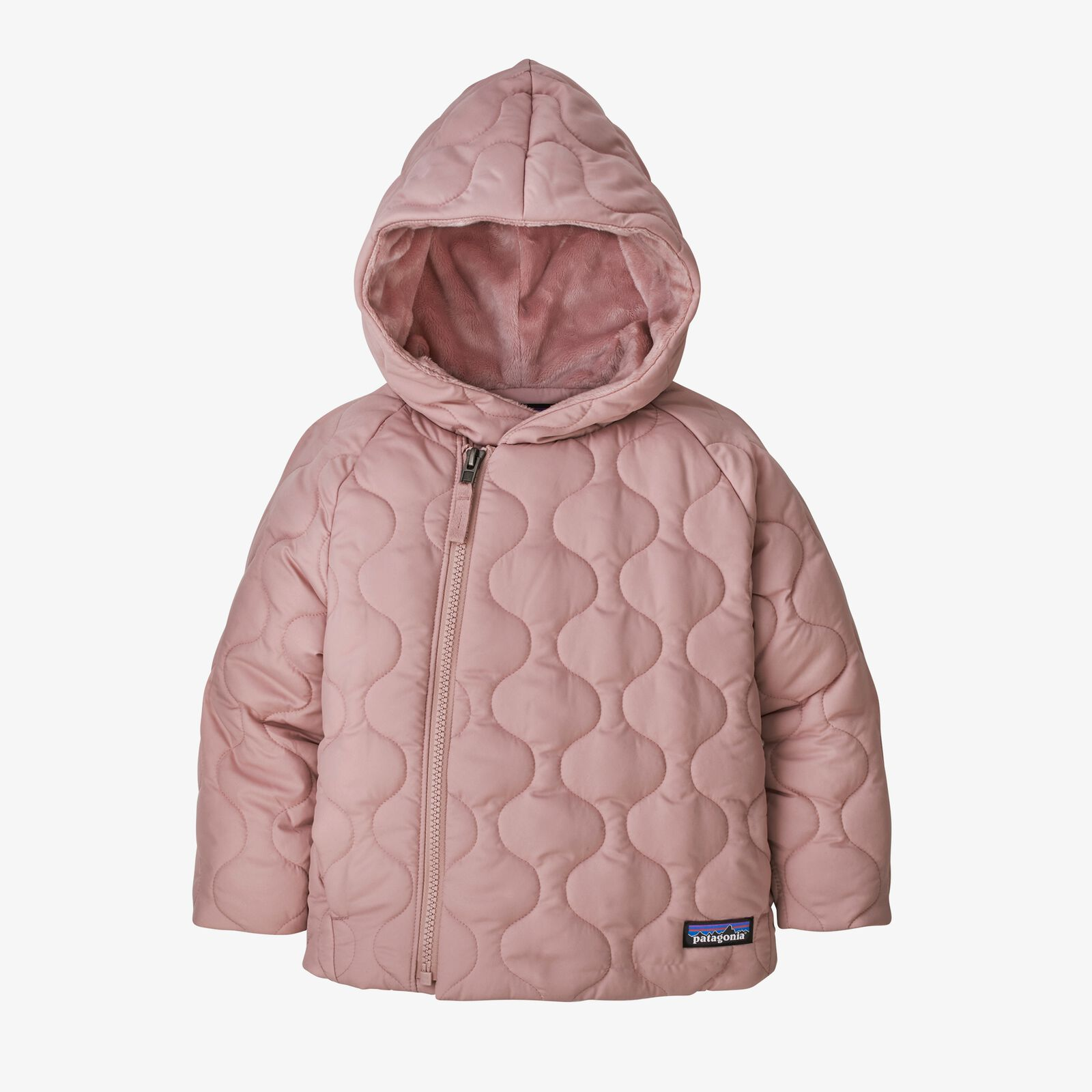 Baby Quilted Puff Jacket Fuzzy Mauve