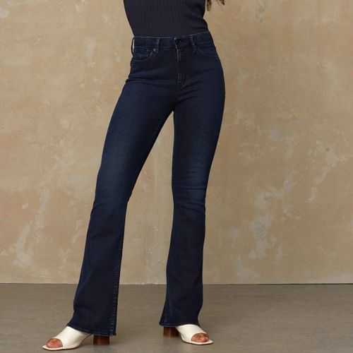Marie High Rise Flare Jeans Coated Night