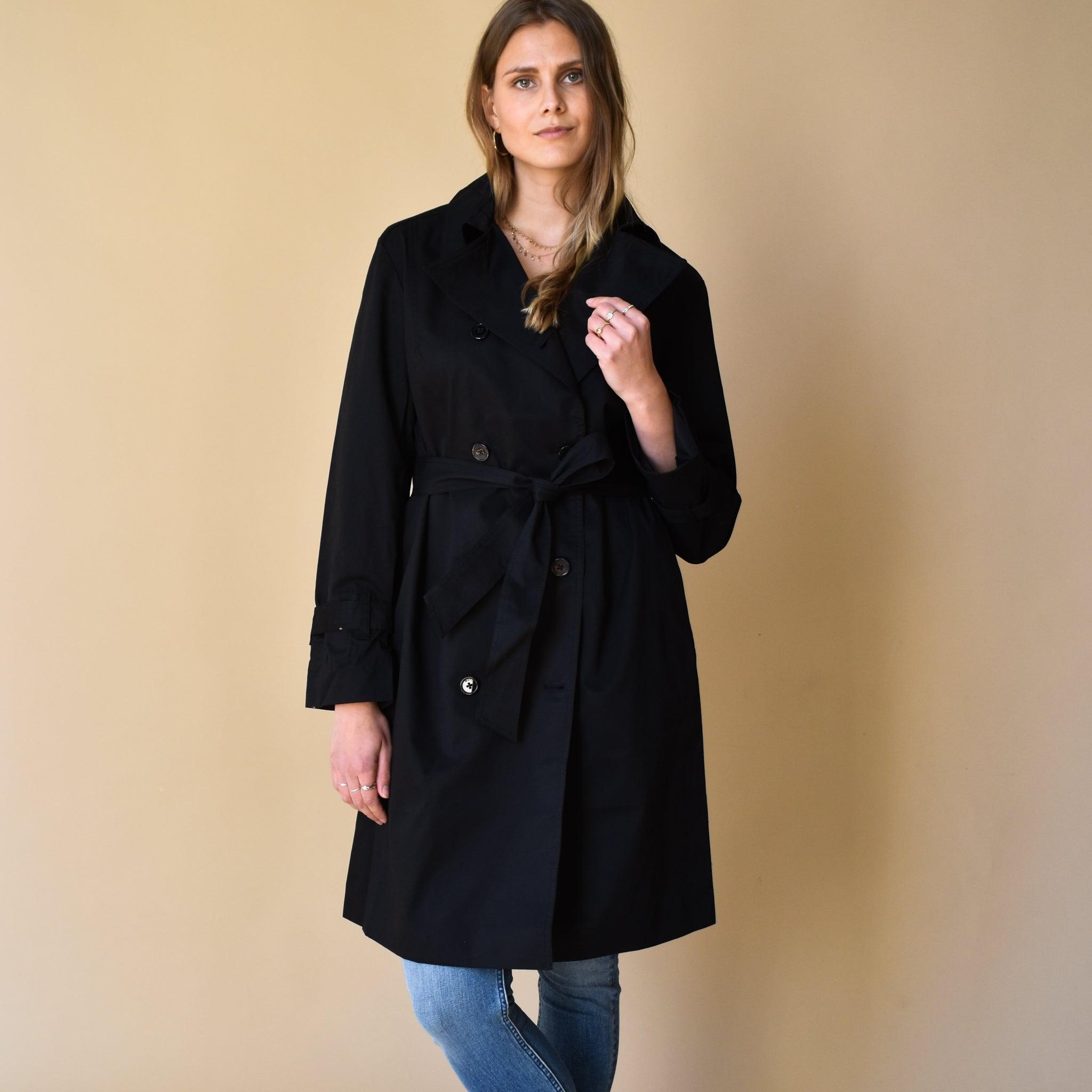 Ezra Vegan Trench Coat Black