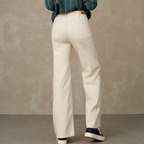 Kings of Indigo Jane Sailor High Waisted Jeans Ecru