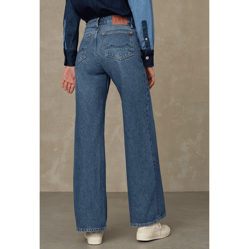 Kings of Indigo Jane High Waisted Jeans Eco Recycled Blue Used