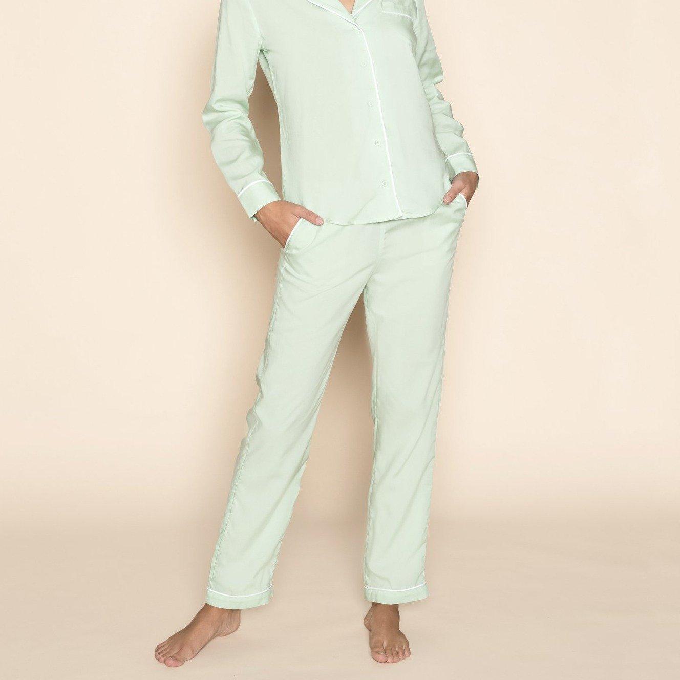 Pyjama Trousers Mint Green