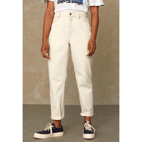 Kings of Indigo Caroline High Waisted Jeans Ecru