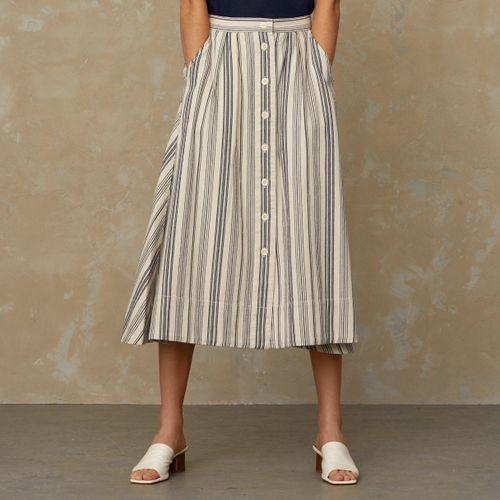 Benten Skirt Beige Stripe