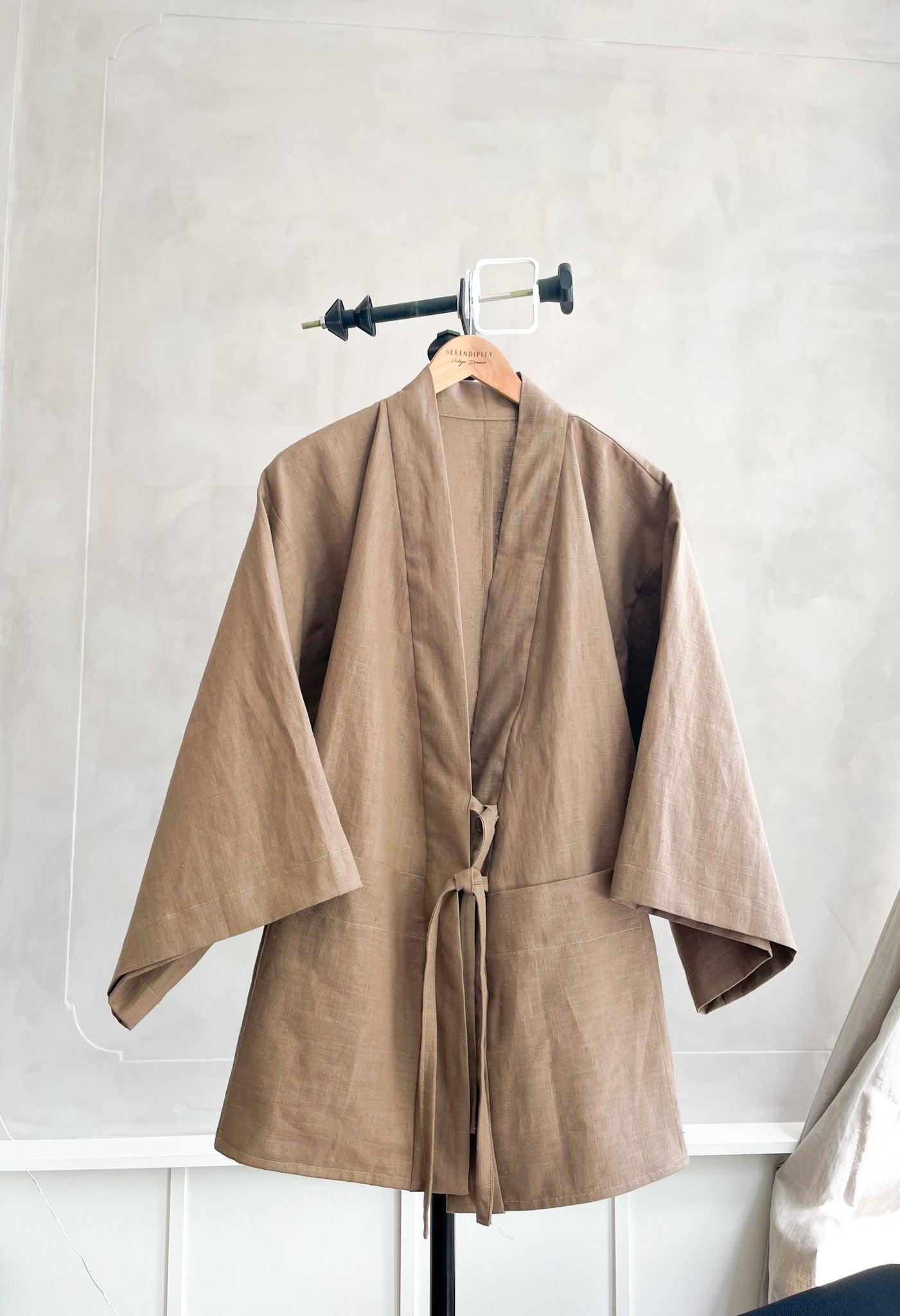 SIMPLE   Taupe Knot Kimono