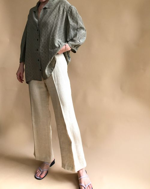 THE LINEN FLARE PANT