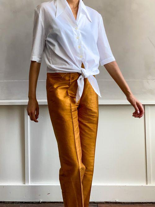 THE GOLDEN OCHRE PANT (silk)