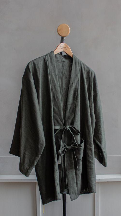 SIMPLE   Green Knot Kimono