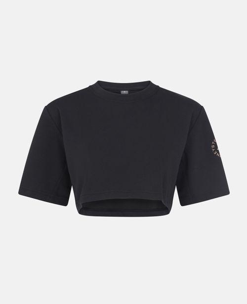 Stella McCartney - Black Training Cropped T-Shirt