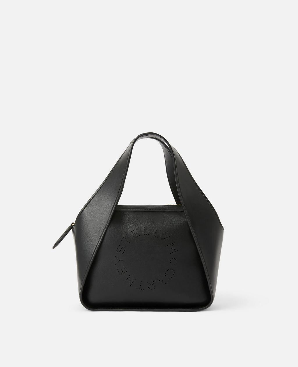 Stella McCartney Black Mini Stella Logo Cross Body Bag
