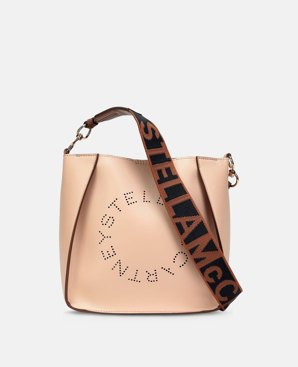 Stella McCartney Beige Stella Logo Shoulder Bag