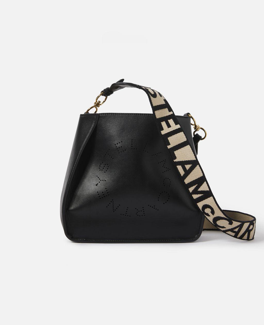 Stella McCartney Black Stella Logo Shoulder Bag