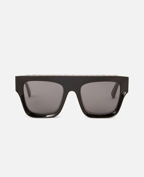 Stella McCartney - Shiny Black Square Sunglasses