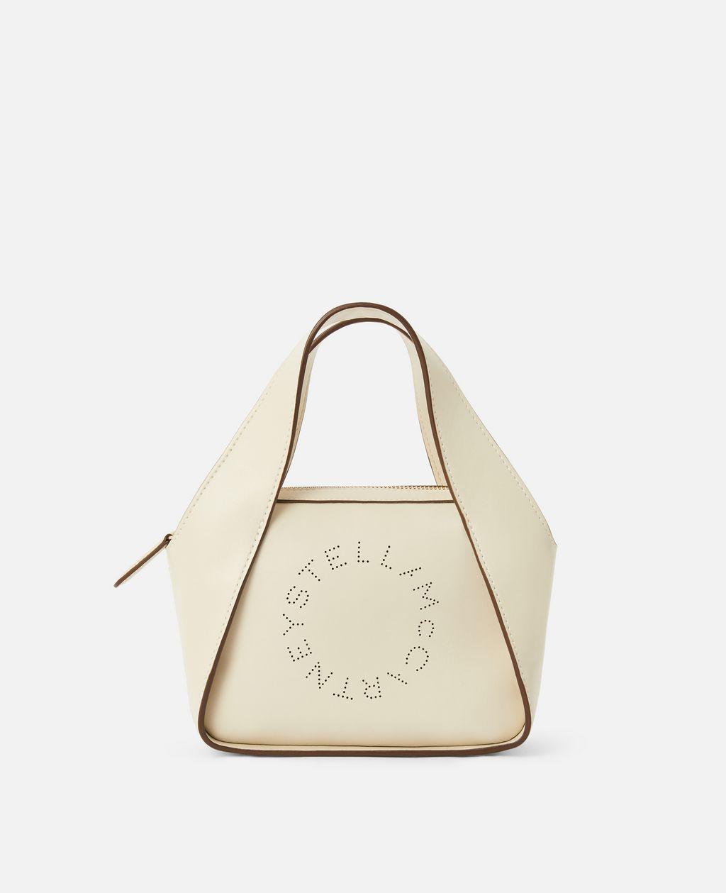 Stella McCartney White Mini Stella Logo Cross Body Bag