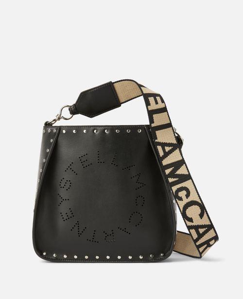 Stella McCartney - Stella Logo Studded Shoulder Bag