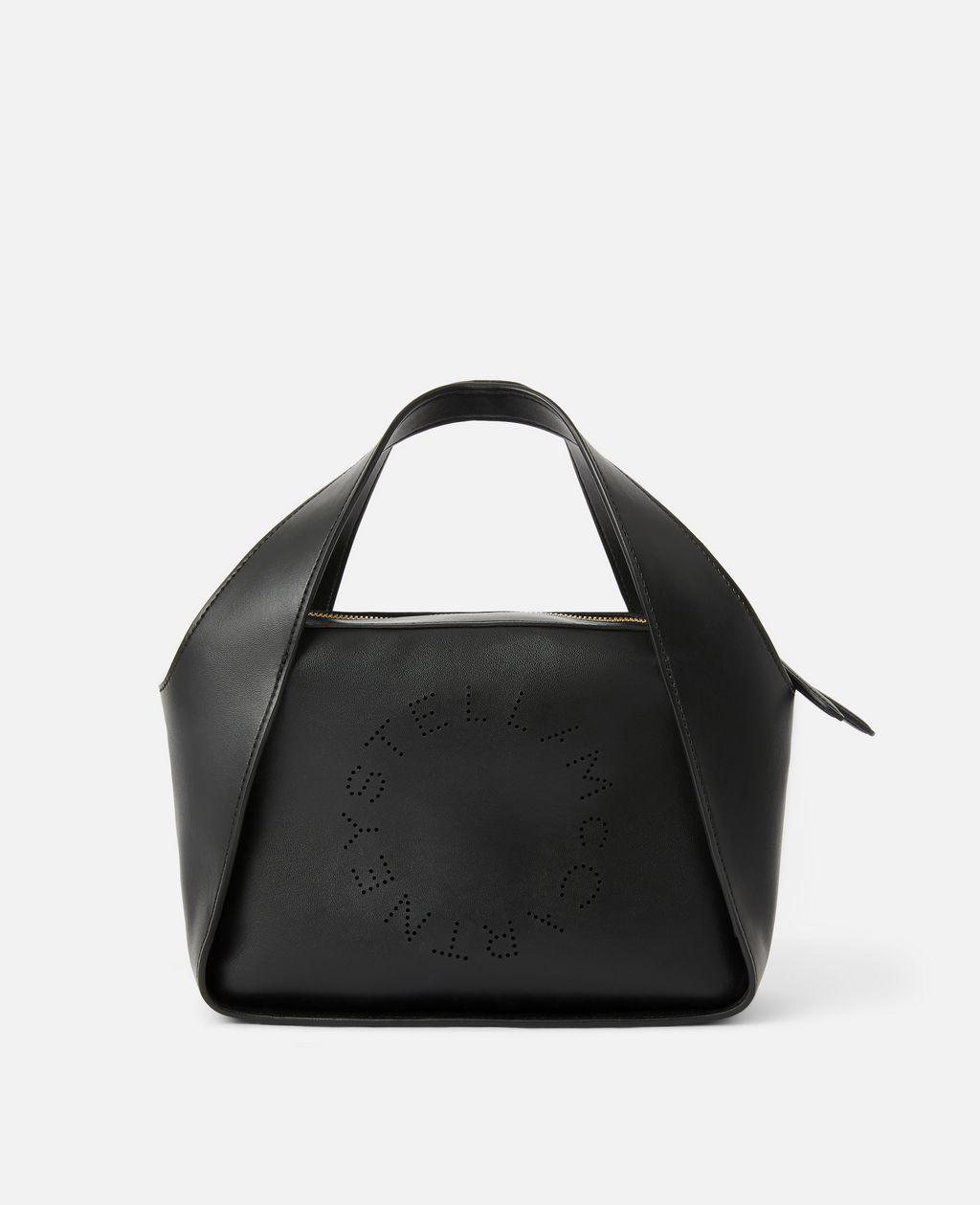 Stella McCartney Black Stella Logo Cross Body Bag