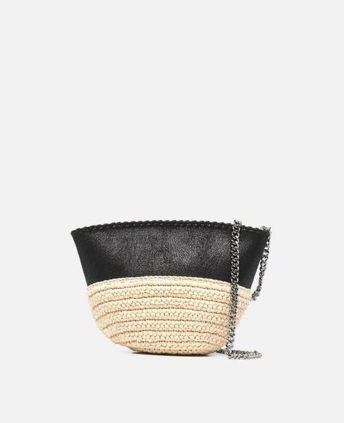 Stella McCartney - Falabella Raffia Mini Shoulder Bag