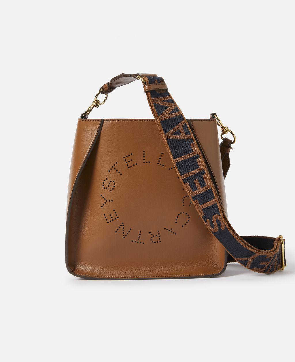 Stella McCartney Caramel Stella Logo Shoulder Bag