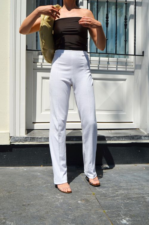 The Everyday Trousers | White Terry