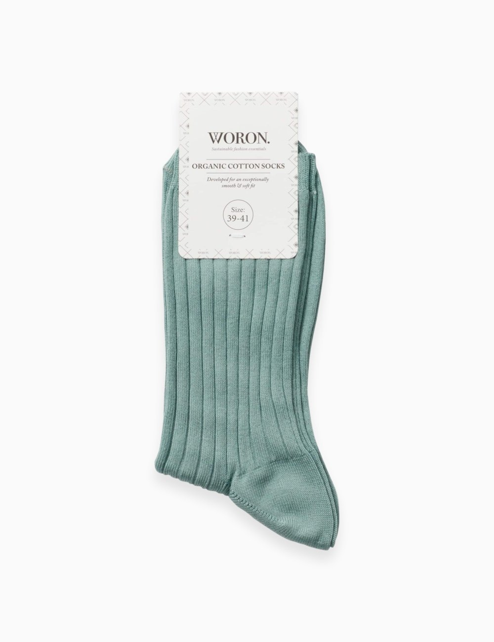 Organic Cotton Socks Aqua Green