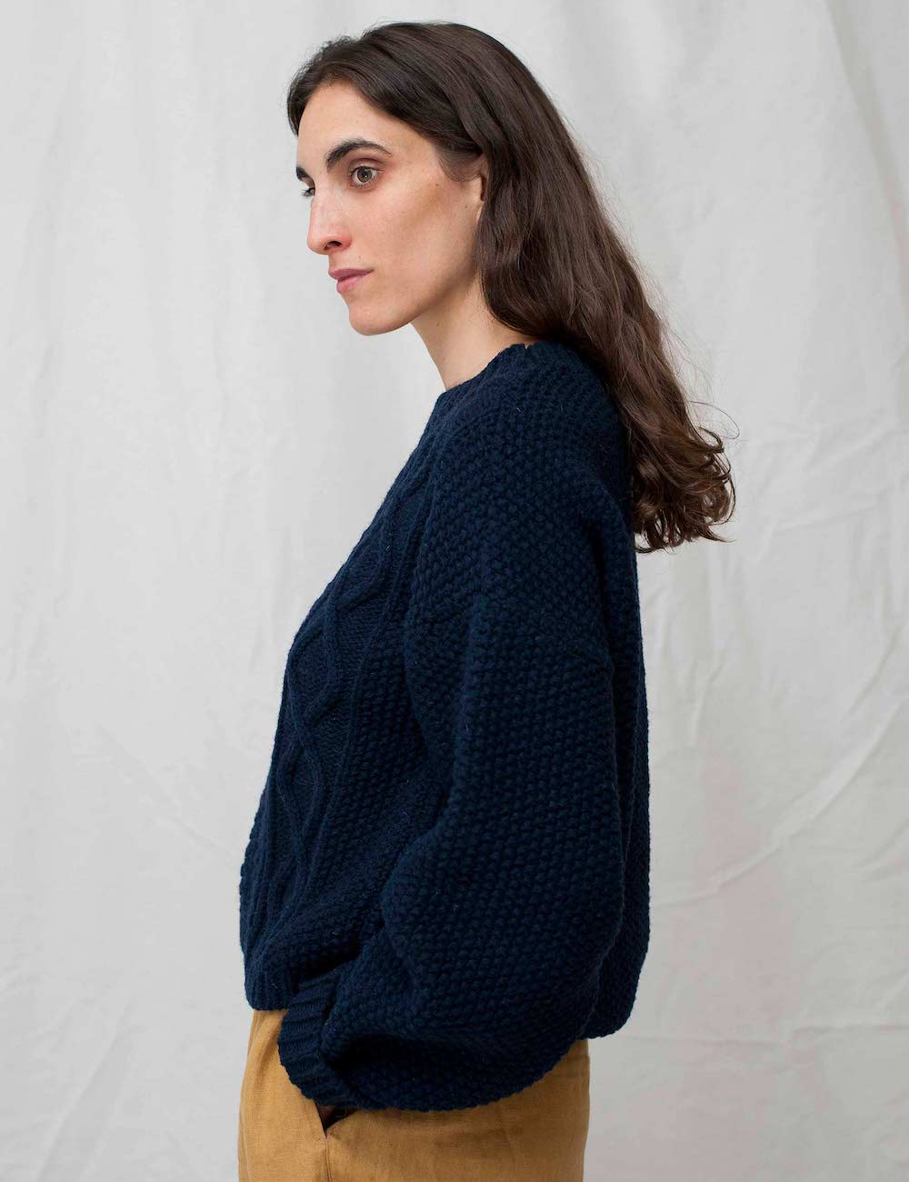 Paola Merino Wool Sweater Navy