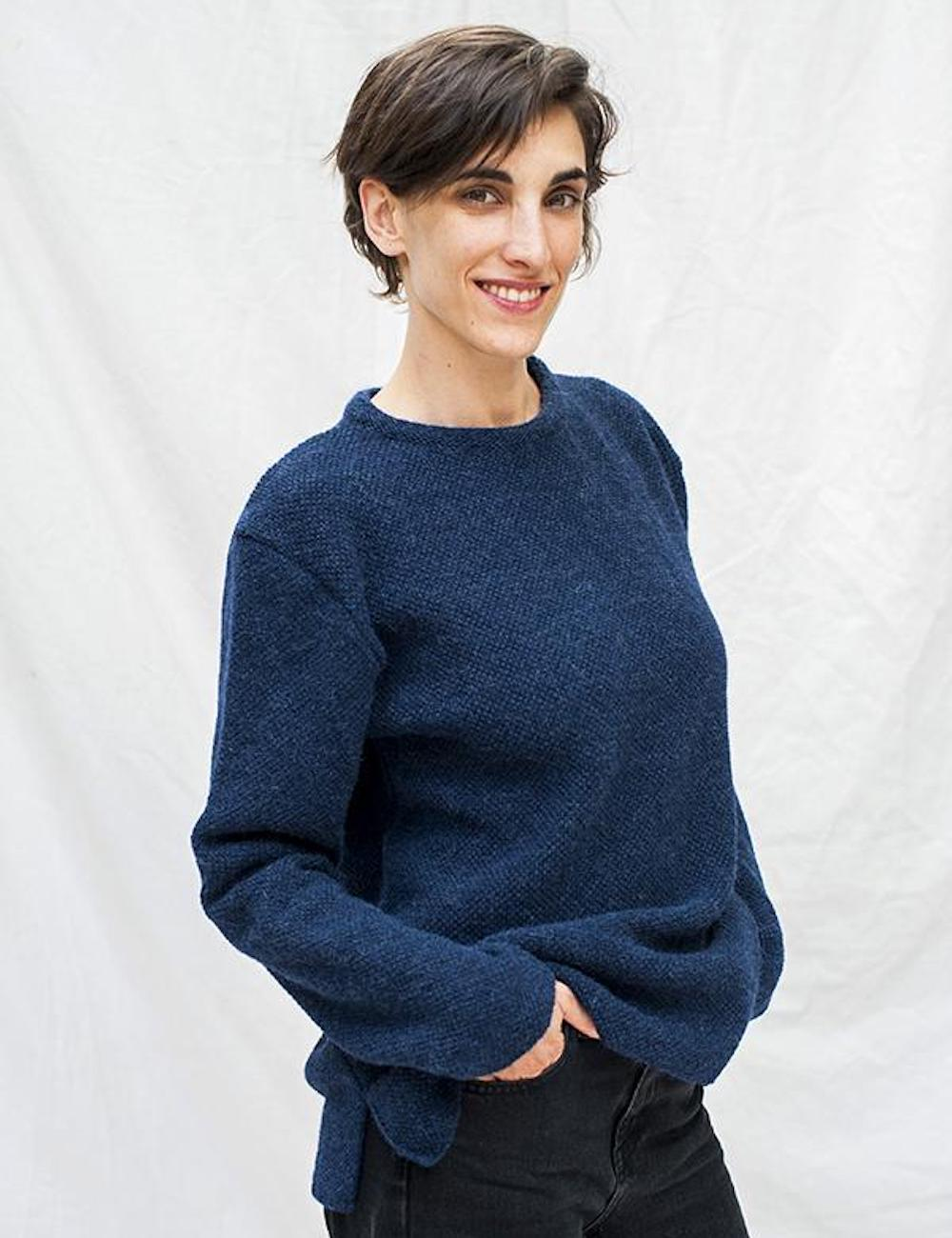 Line Alpaca Wool Sweater