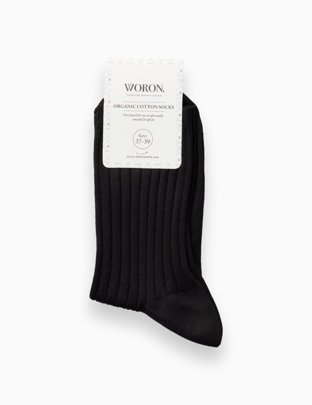 Organic Cotton Socks Black