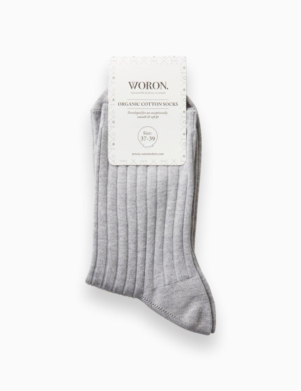 Organic Cotton Socks Grey