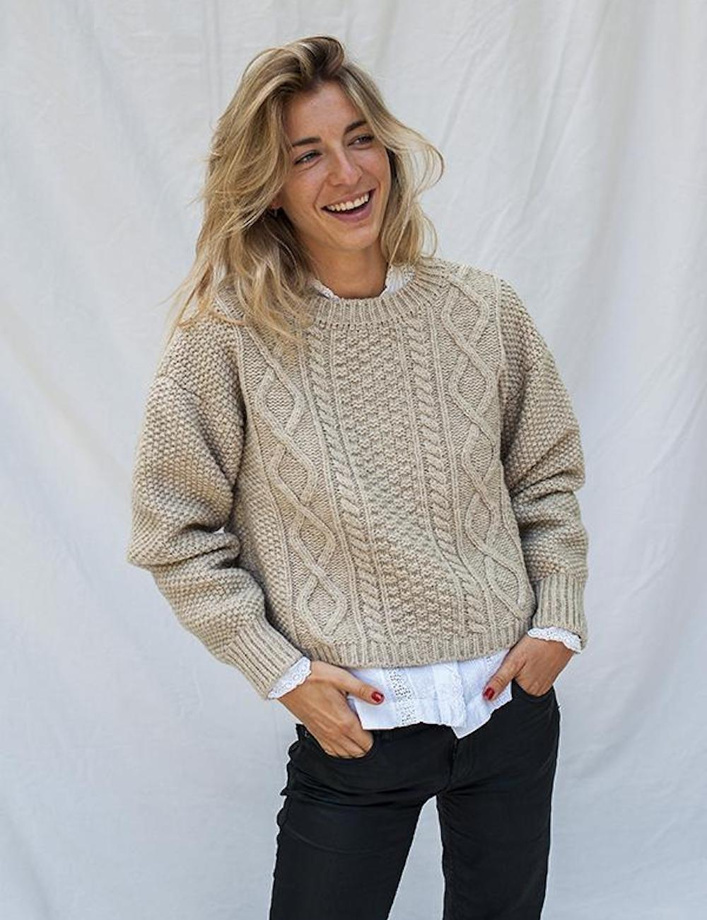 Paola Merino Wool Sweater Beige