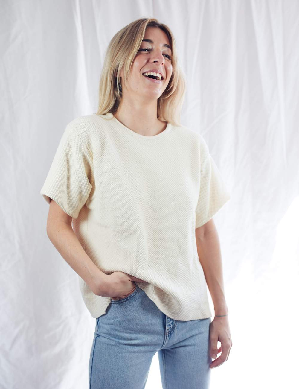 Léa Organic Cotton Tee Off White