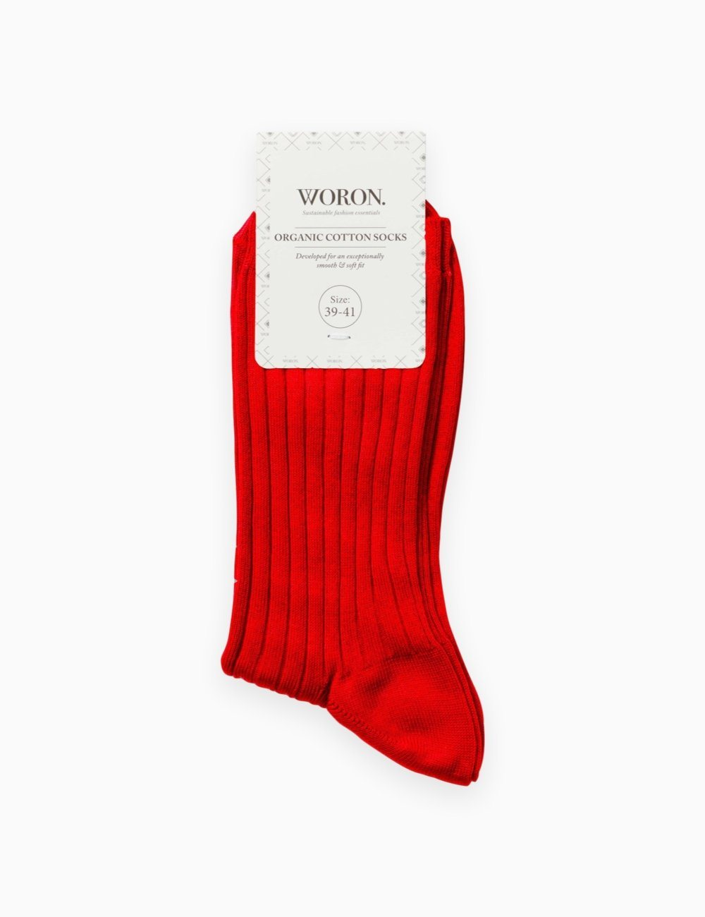 Organic Cotton Socks Red