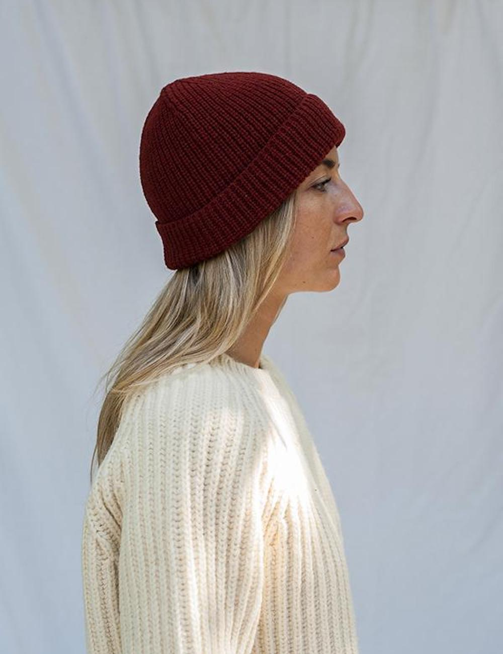 Paul Merino Wool Beanie Red