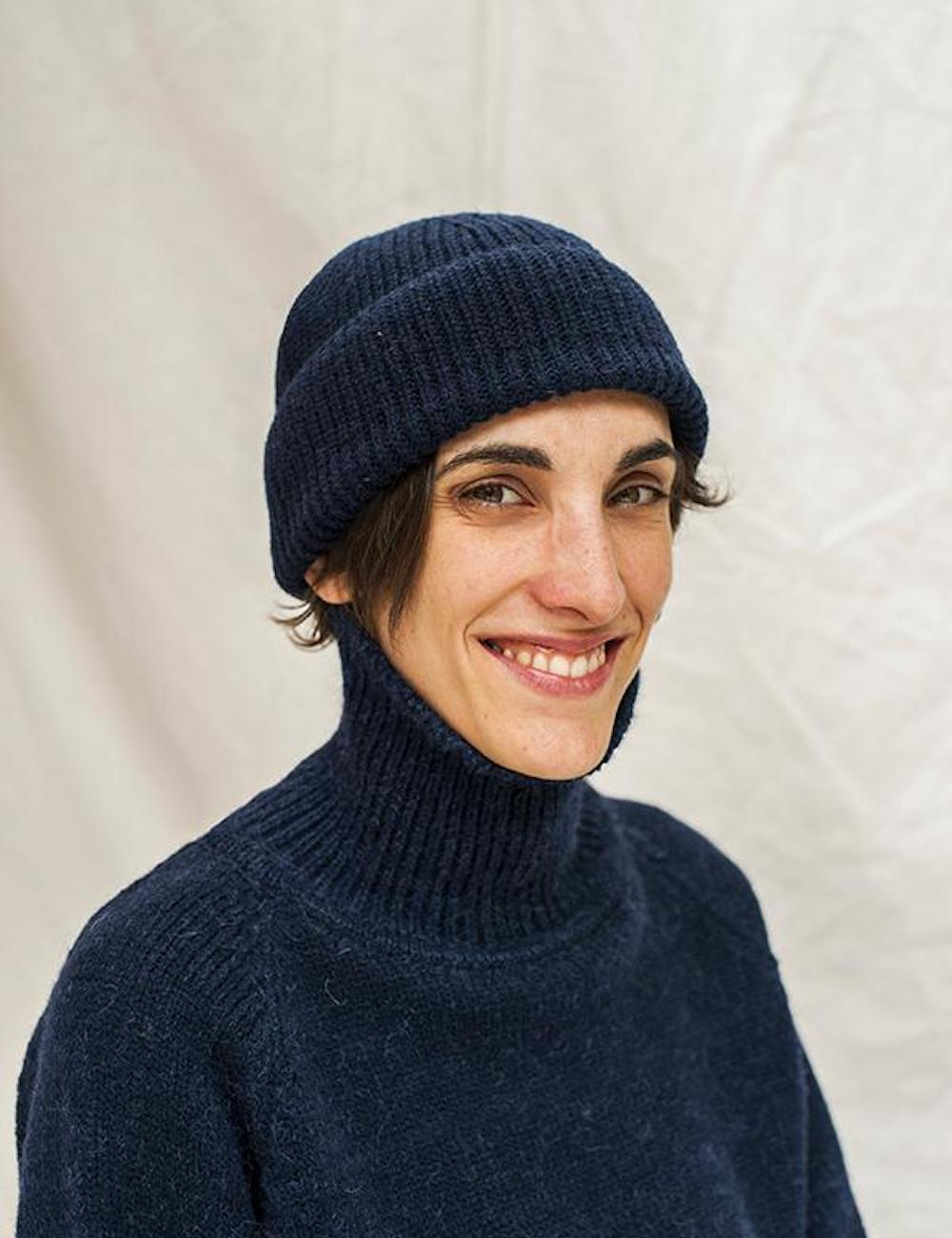 Paul Merino Wool Beanie Navy