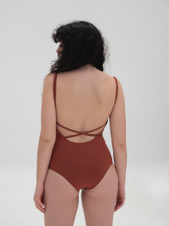 The Nude Label Cross Back Swimsuit