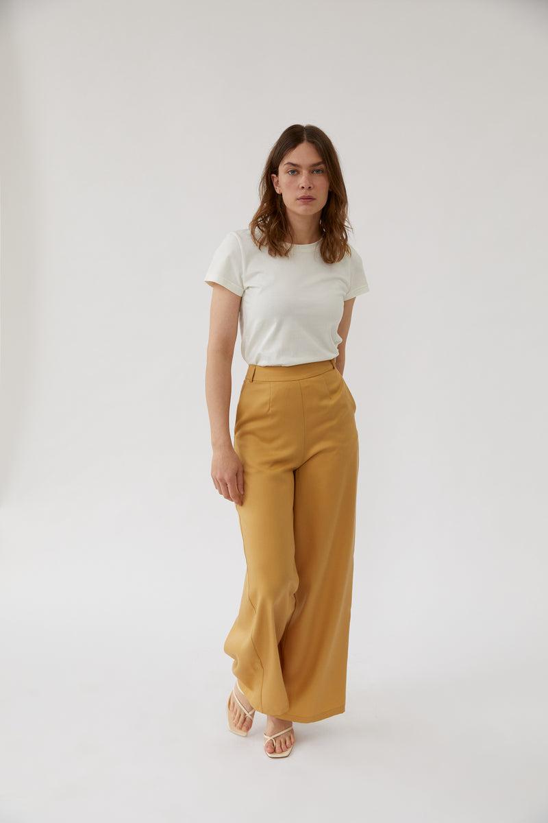 Wide Leg Pants Golden Sand