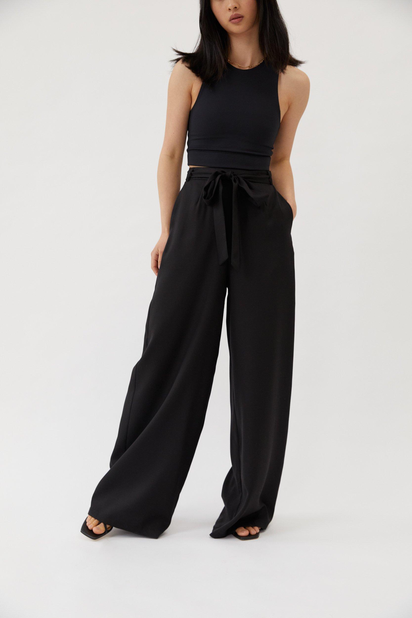 Wide Leg Pants Black