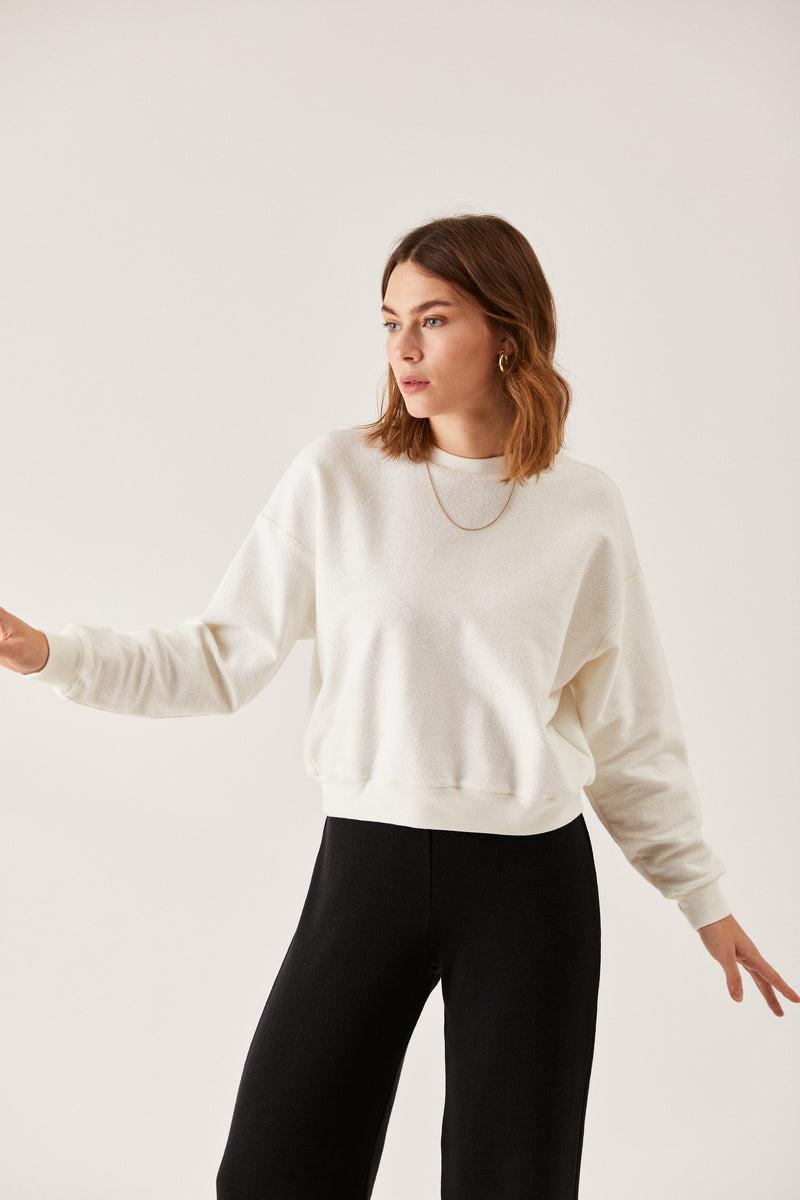 The Inside-Out Sweatshirt Ecru