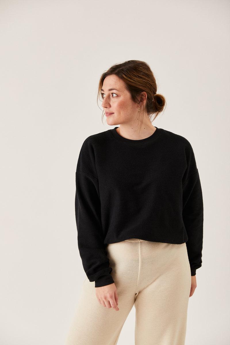 The Inside-Out Sweatshirt Black