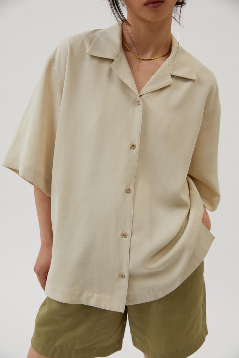 Unisex Bowling Shirt Oat