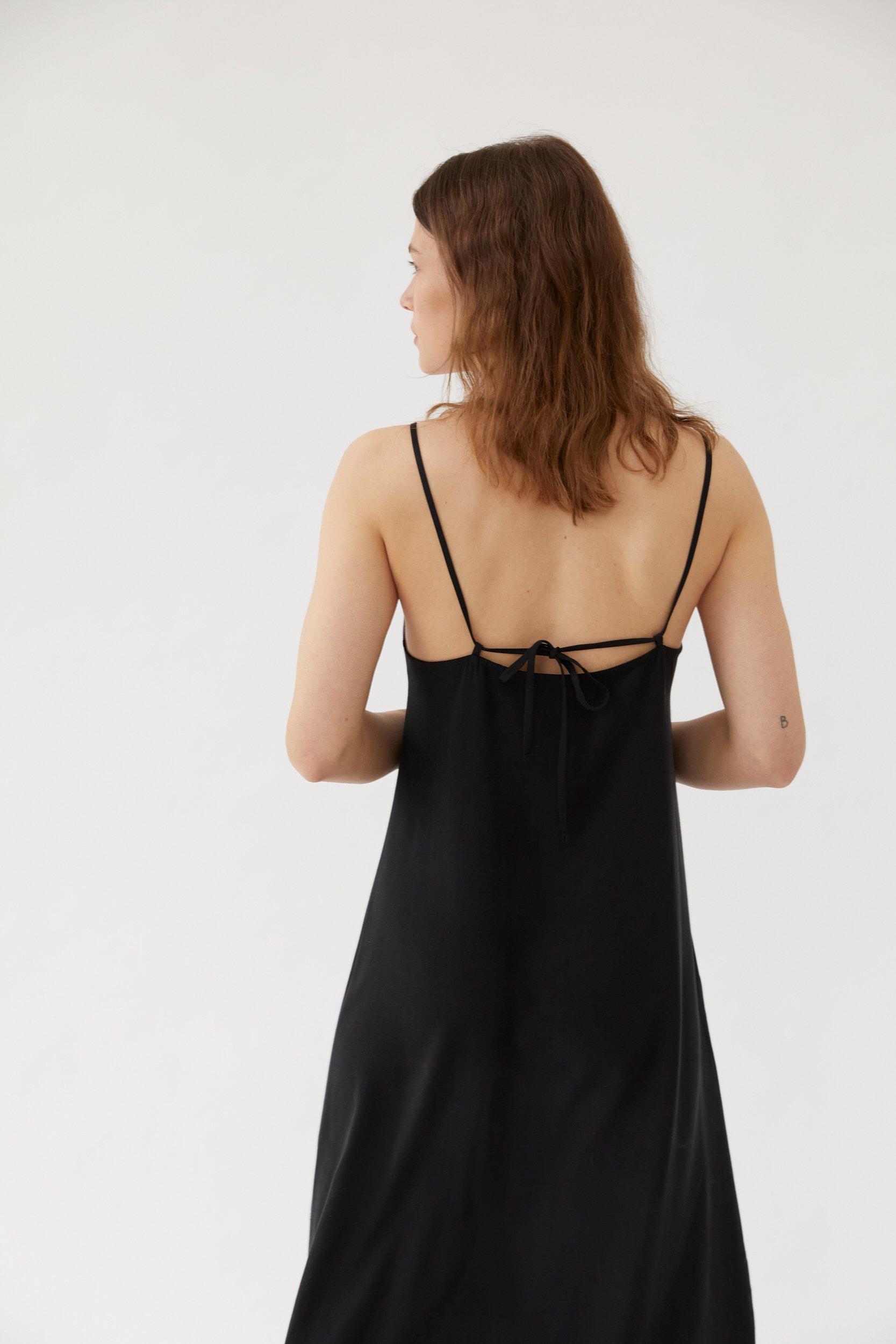 Long Cami Dress Black
