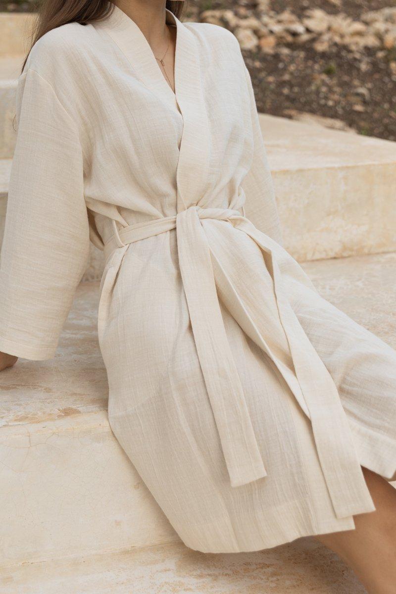 Organic Muslin Robe