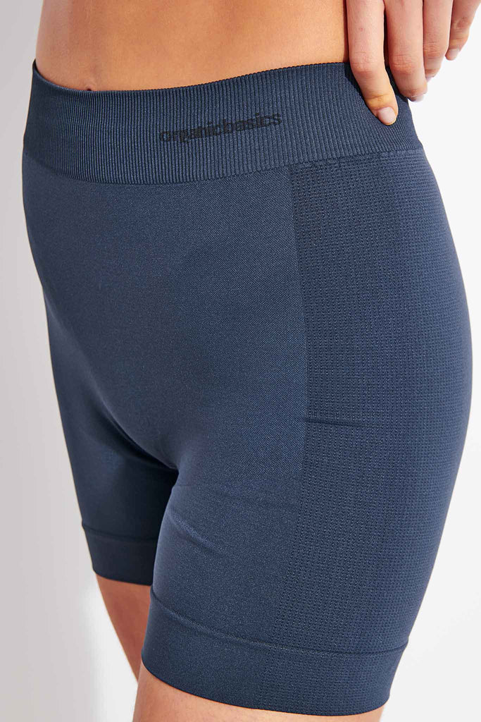 Active Yoga Shorts - Dusty Blue